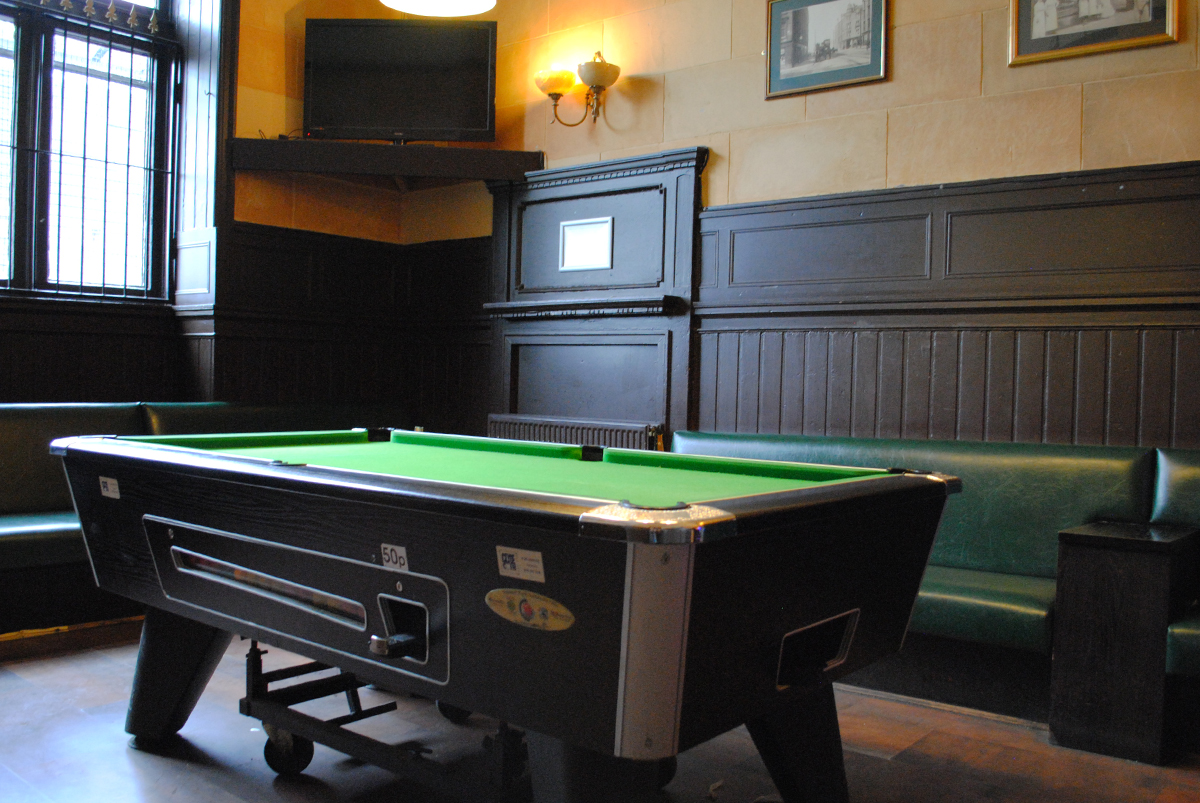 Enjoy a game of pool with your pint